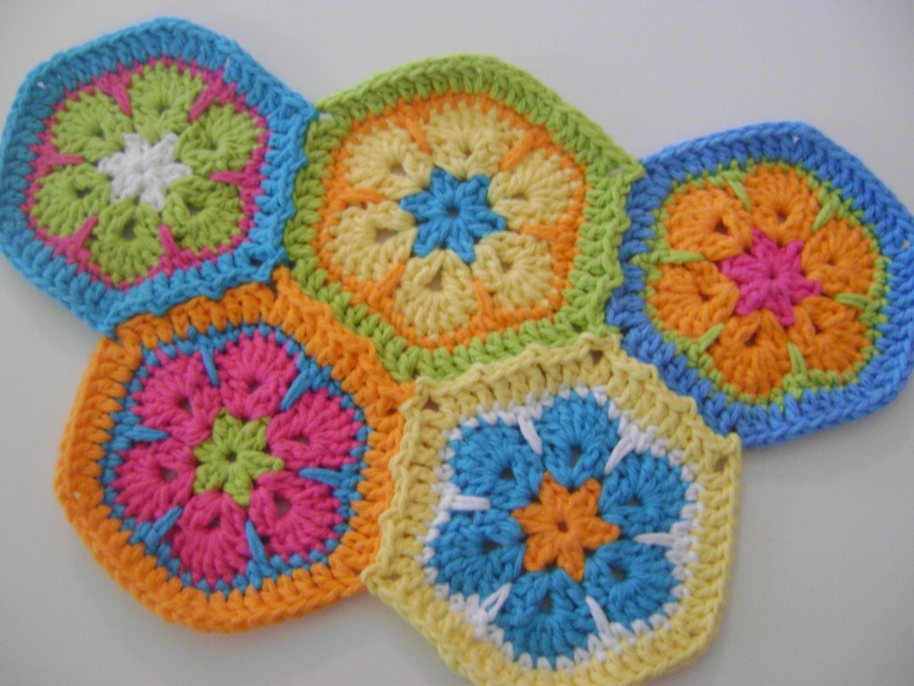Free Crochet Hexagon Hippo Pattern : African Flower Hexagons - My New Crochet Obsession