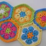hexagons african flower free crochet patterns