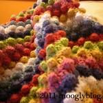 Blackberry Salad Striped Baby Blanket