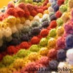 baby blanket, free crochet pattern, crochet baby blanket, bobbles, blackberry salad stitch, stripes