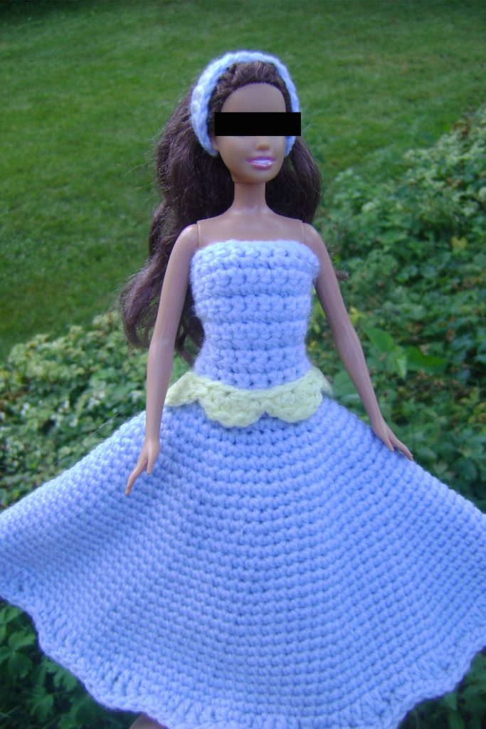 Pattern For Peaches Cream Crocheted Barbie Dress Easy