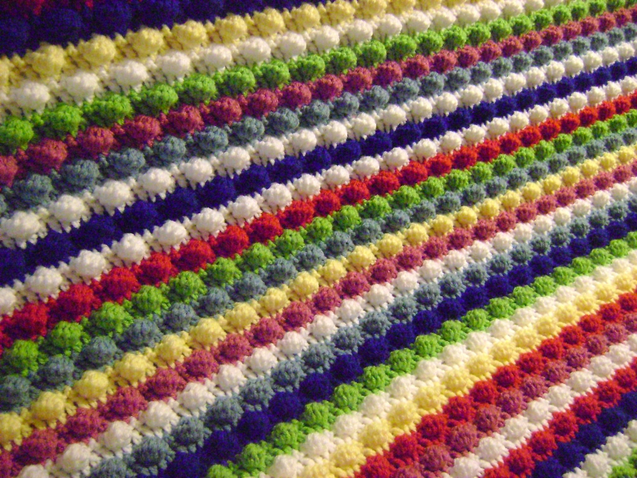 Free Crochet Pattern The Blackberry Salad Striped Afghan