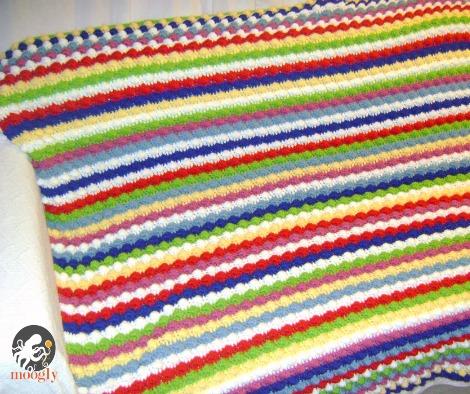 Free Crochet Pattern The Blackberry Salad Striped Afghan
