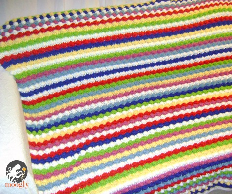 Blackberry Salad Striped Afghan - a free #crochet pattern from Mooglyblog.com