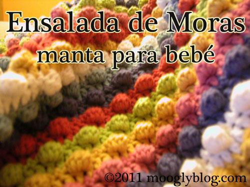 Ensalada de Moras - Manta para bebe, modelo de libre, free crochet pattern baby