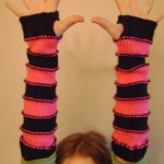 sweet stripey arm warmers