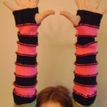 Sweet Striped Arm Warmers
