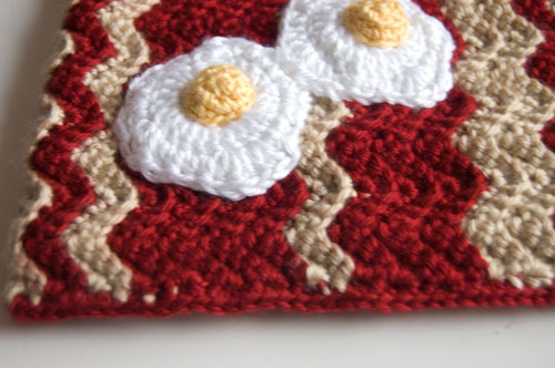 Free crochet bacon pattern chart eggs food kawaii