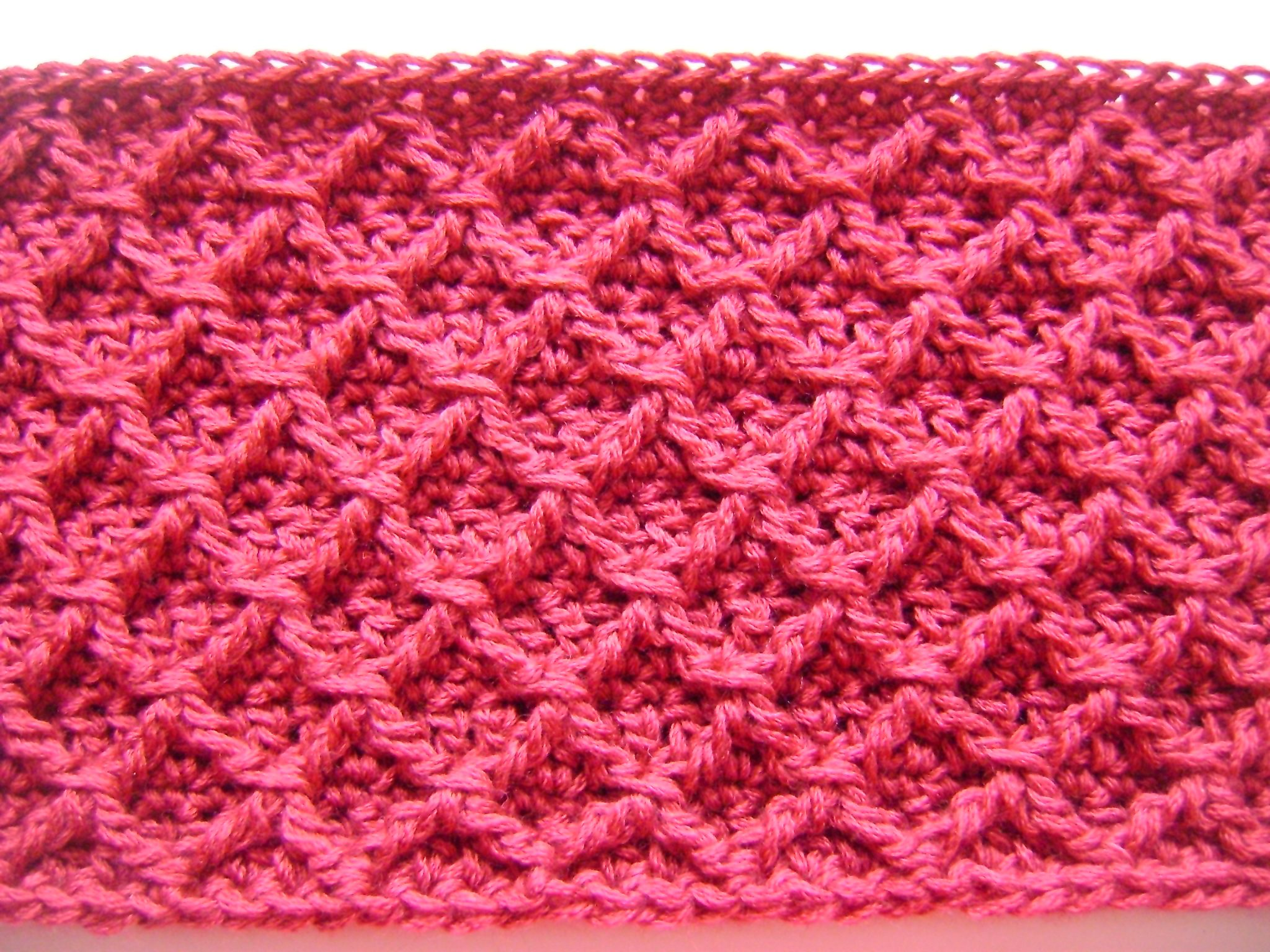 closeup of the stitch pattern, so you can get an idea of how it ...