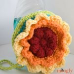 Rainbow Flower Scrubby Dishcloth - free crochet pattern on Moogly!