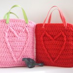 Cable Heart Gift Bag and other free Valentine's Day Crochet Patterns! #crochet