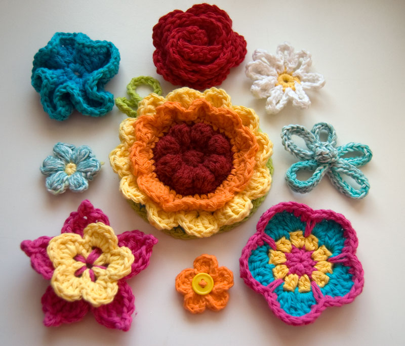 10 Beautiful And Free Crochet Flower Patterns