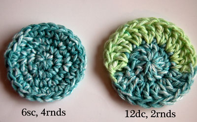 Crochet Circles with Sc and Dc
