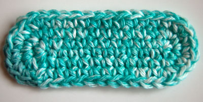 Crochet Oval : Crochet Oval - perfectly flat!