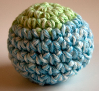 Perfect Crochet Sphere - 10 row version