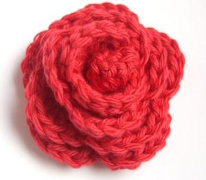 Rosette crochet flower
