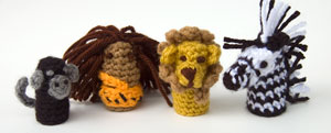 free crochet patterns toys children zebra lion monkey tarzan