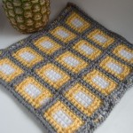 Thumbnail of yellow, grey and white Squares Squared Block crochet