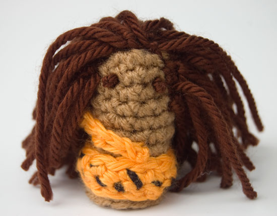 Wild Jungle Man Finger Puppet Free Crochet Pattern Tarzan