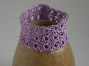 Purple crochet Curry cuff