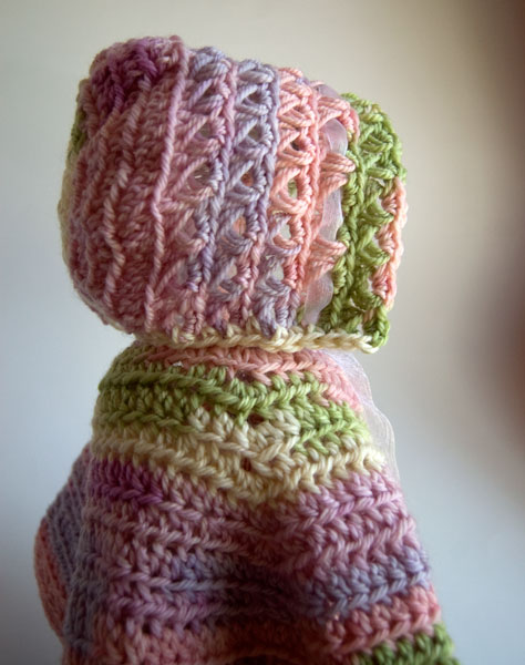 Baby In Bloom Bonnet free crochet pattern at moogly