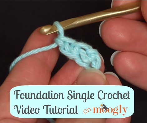 Learn how to #crochet the Foundation Single Crochet (FSC) - so much easier than crocheting into the chain! Video tutorial from Mooglyblog.com