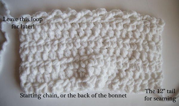 free baby bonnet crochet pattern Toot Sweet Newborn Bonnet Crochet Free Pattern - Construction