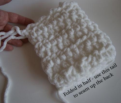 free baby bonnet crochet pattern Toot Sweet Newborn Bonnet Crochet Free Pattern - Seaming