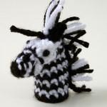 Zebra-Finger-Puppet free crochet pattern www.mooglyblog.com