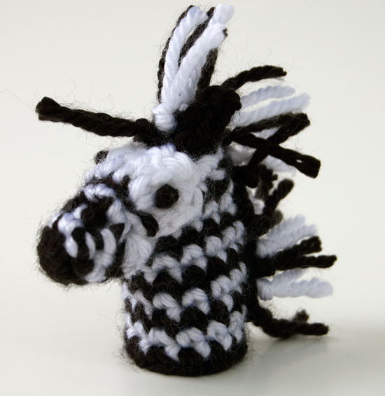 free crochet pattern zebra jungle lion monkey tarzan toy child finger puppet