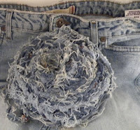 How to Make Blue Jean Yarn via plastiqrecreation.blogspot..com