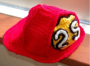 fireman child hat free pattern