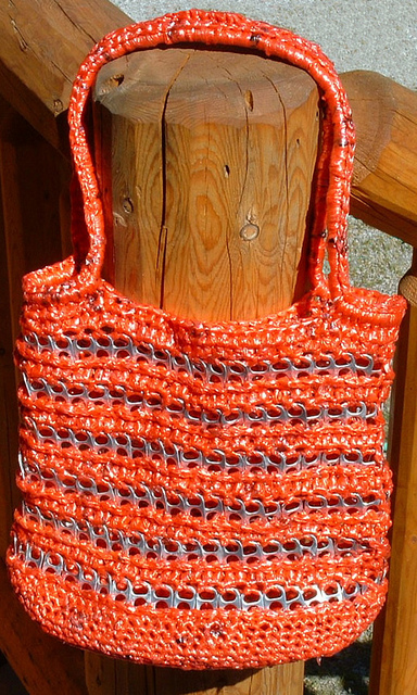 Plarn Pop Top Tote Bag Free Pattern My Recycled Bags