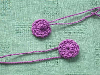Maggie's Crochet   Button Poppy Flower - Free Crochet Pattern