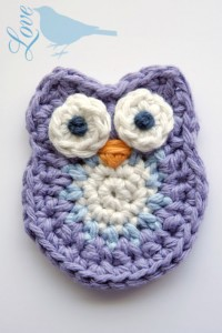 Crochet Owl Embellishment at Love the Blue Bird