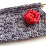 Devotee Clutch Free Crochet Pattern with floral detail