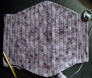Devotee Clutch Free Crochet Pattern Laid Flat