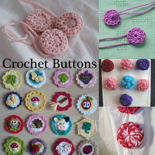 Free #Crochet Patterns to make your own Buttons! From Mooglyblog.com
