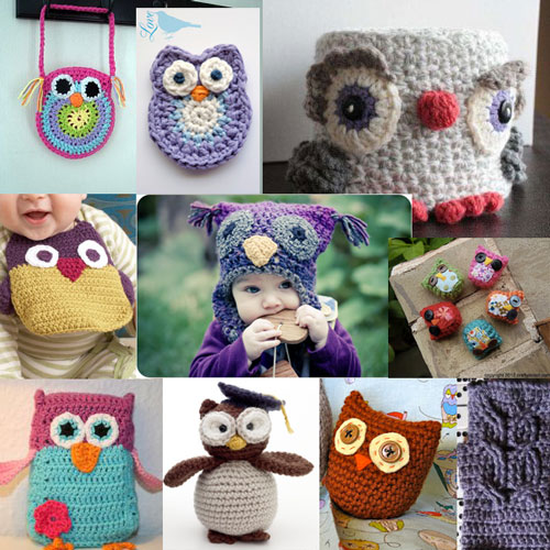 10 Free Crochet Owl Patterns - Links at www.mooglyblog.com