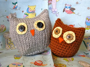 Owls Two Ways from Ocean of Stitches