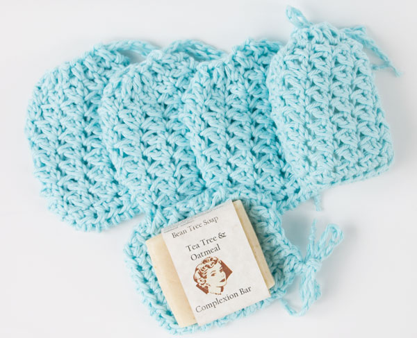 Textured Soap Sacks free crochet pattern from CrazySocks Crochet