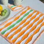Free Crochet Placemat and Coaster for Summer