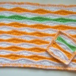 Summer Waves Placemat and Coaster Free Crochet Patterns