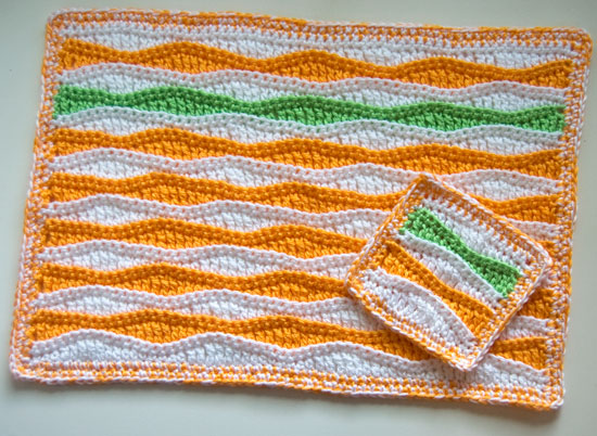 Free Patternsummer Waves Placemat And Coaster