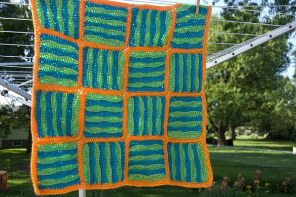 Wavy Baby Blanket Free Crochet Pattern