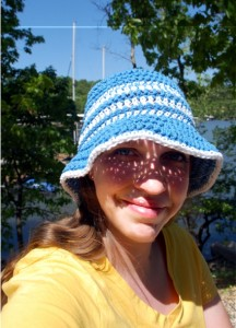 Free summer sun hat crochet pattern