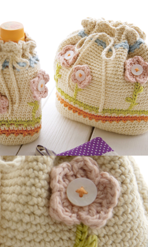 Japanese Lunch Bag free crochet pattern