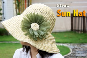 free straw sun summer hat pattern