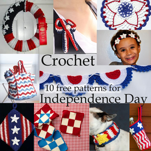 4th july independence day free crochet patterns links list library