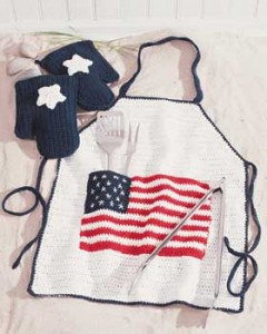 Free Crochet Pattern Father's Day BBQ Apron Barbeque Gift